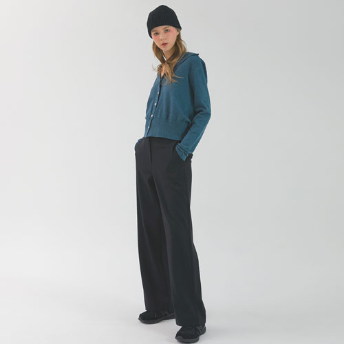 A-WIDE LEG PANTS - BLACK