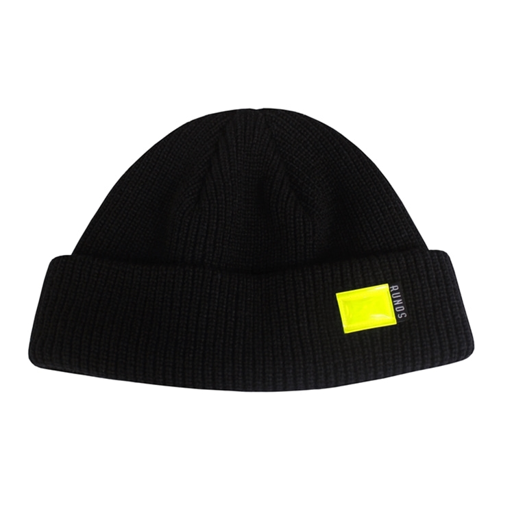 FLUORESCENCE WATCH CAP - BLACK
