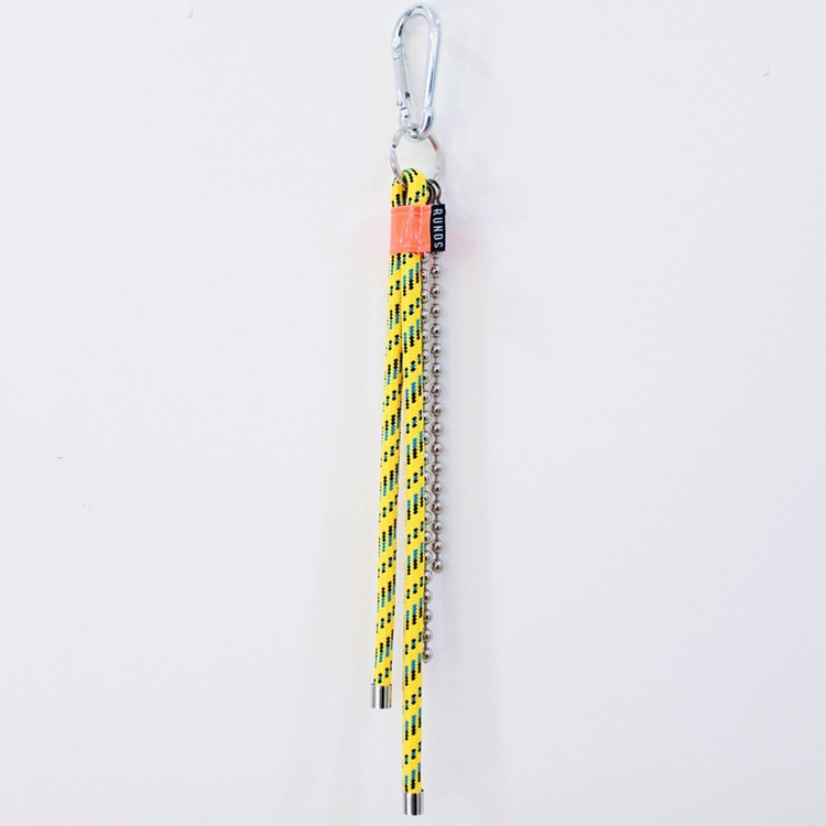 ROPE FLUORESCENCE KEYRING - YELLOW