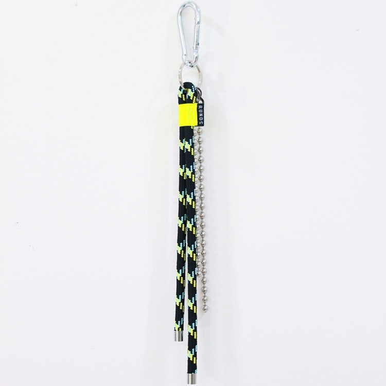 ROPE FLUORESCENCE KEYRING - BLACK