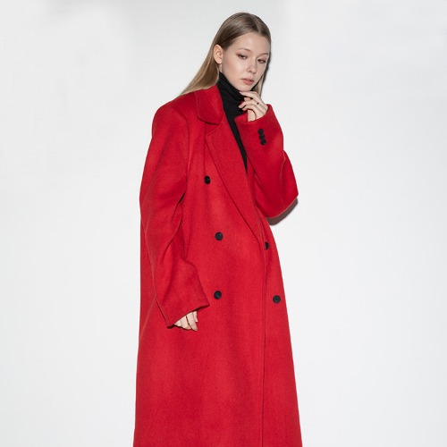 over double long coat (FL-009) - RED