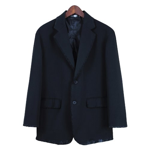 GRINDER DAMAGE OVERFIT BLAZER - BLACK