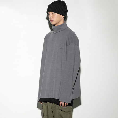 over turtleneck CH (FU-103) - CHARCOAL