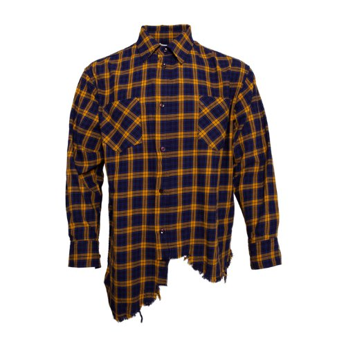 Distressed Detail Shirt [Yellow]