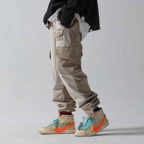 PIGMENT MULTI POCKET PANTS - BEGIE
