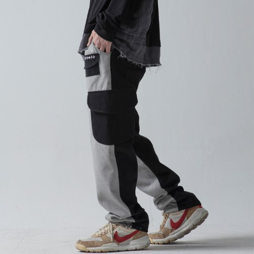 PIGMENT MULTI POCKET PANTS - BLACK