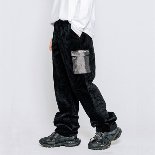 LETTERING POCKET CORDUROY PANTS