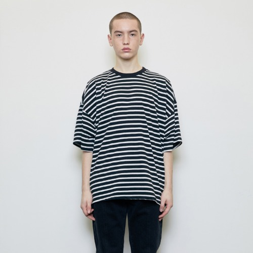 Oversized Striped T-shirt Black
