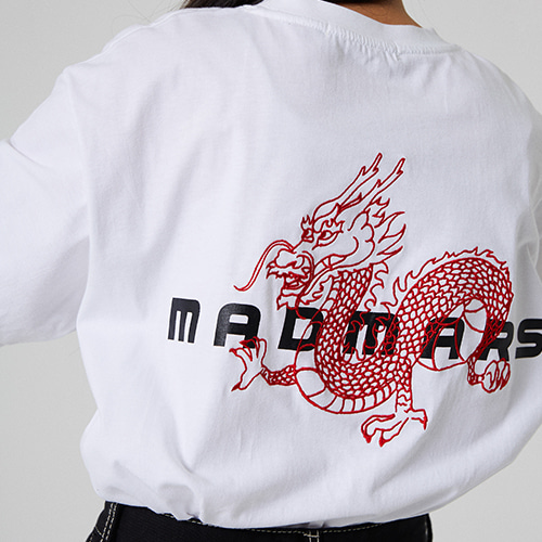 DRAGON EMBROIDERED T-SHIRT_WHITE