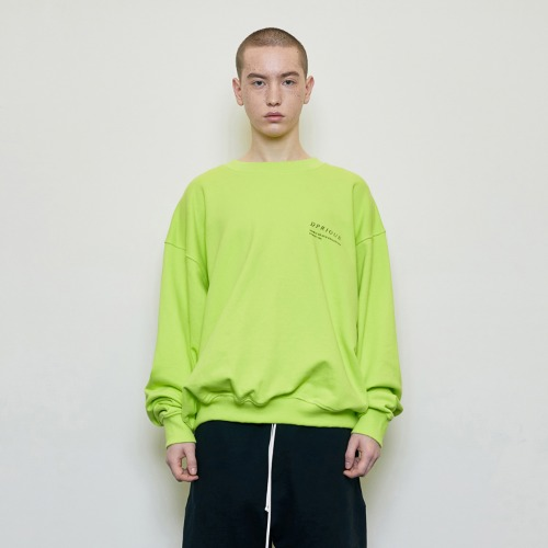 Oversized 'Visible' Sweatshirt Neon