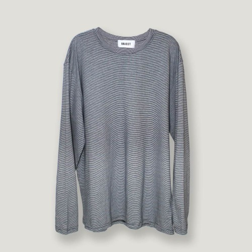 [ODD단독할인] OVERSIZED STRIPE LONG SLEEVE (NAVY/WHITE)