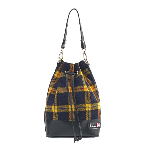 벨보(BELLEBEAU)- CHECK STRAP BAG YELLOW