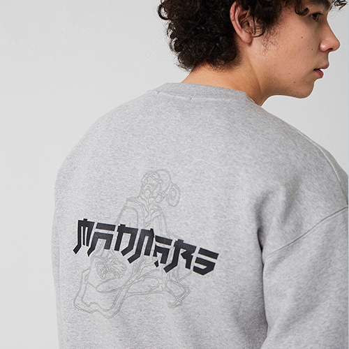 JAPANESE DRAWING SWEATSHIRT_GRAY