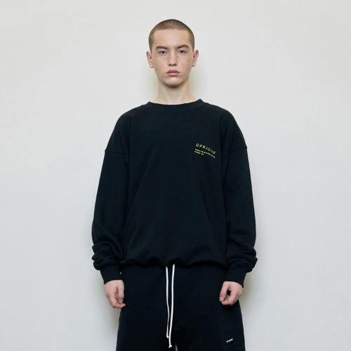 Oversized 'Visible' Sweatshirt Black