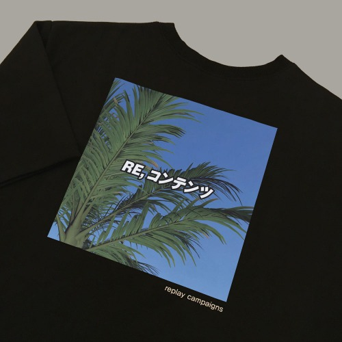 new black replay campaign 1/2 tee (green)