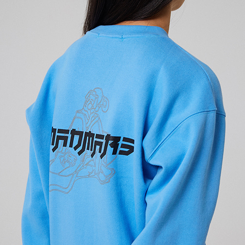 JAPANESE DRAWING SWEATSHIRT_SKYBLUE