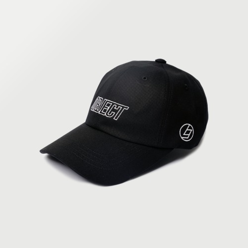 OBJECT LOGO CAP (BLACK_WHITE)