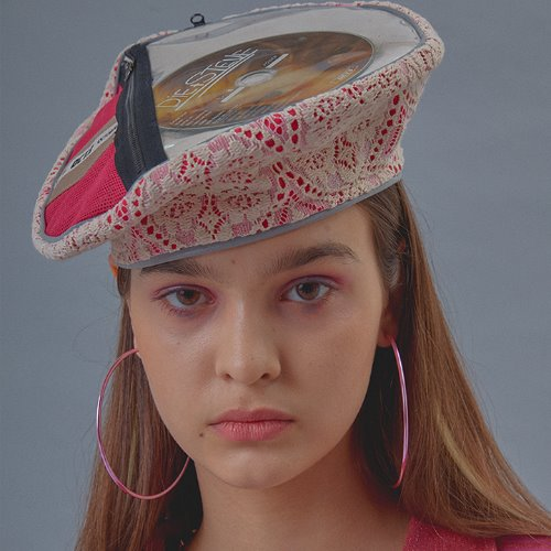 Zipper Pocket CD Beret [Ivory]