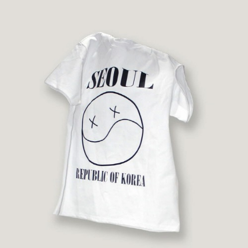 [ODD단독할인]SEOUL SMILE T-SHIRT (WHITE)
