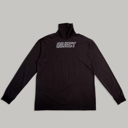 OBJECT LOGO TURTLENECK (BLACK)