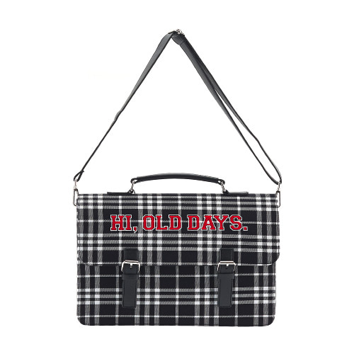 벨보(BELLEBEAU)-CHECK BRIEFCASE BLACK