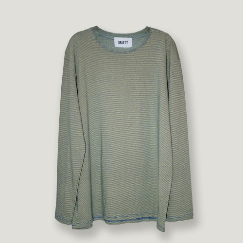 [ODD단독할인] STRIPE LONG SLEEVE (YELLOW/GREEN)