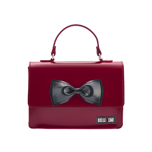 벨보(BELLEBEAU)- RIBBON HAND BAG RED