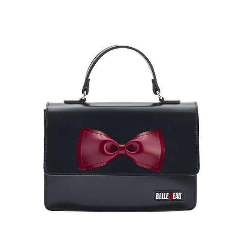 벨보(BELLEBEAU)- RIBBON HAND BAG  BLACK
