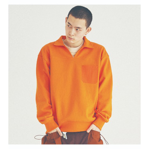 COUNTRY COLLAR SWEATSHIRTS (ORANGE)