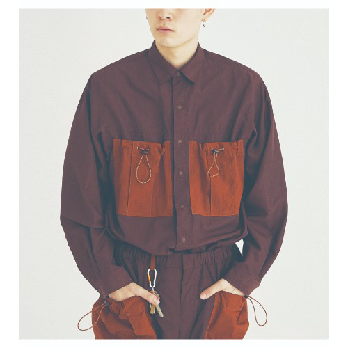 COUNTRY BIG POCKET SHIRT (BROWN)