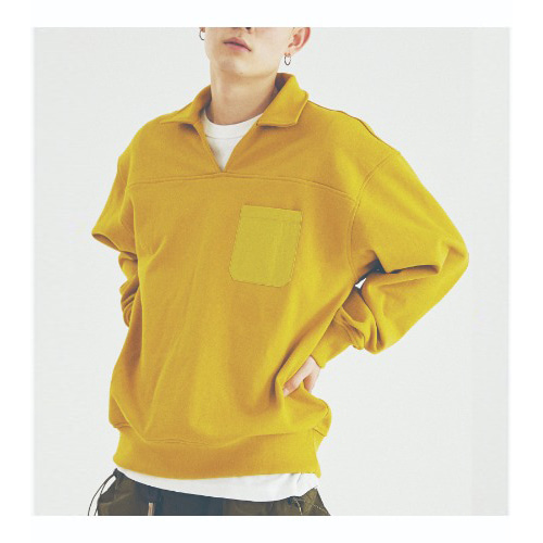 COUNTRY COLLAR SWEATSHIRTS (MUSTARD)
