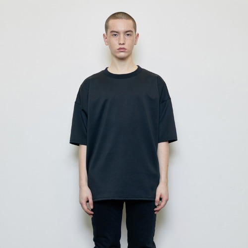 Oversized Logo Label T-shirt Black