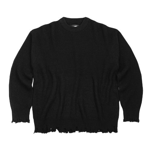 DAMAGE KNITWEAR - BLACK