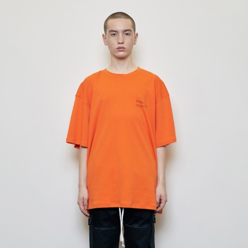 Oversized 'Visible' T-shirt Orange