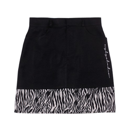 ZEBRA POINT SKIRT(BLACK)