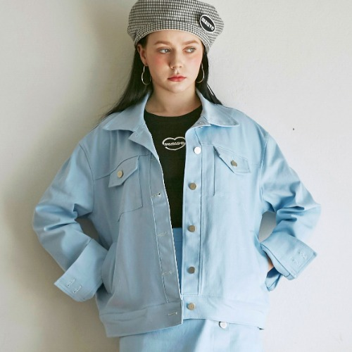 COLOR DENIM JACKET (sky blue)