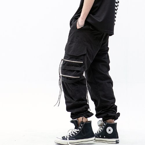 4 ZIPPER STRING JOGGER PANTS