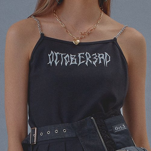 Chain Line Sleeveless [Black]