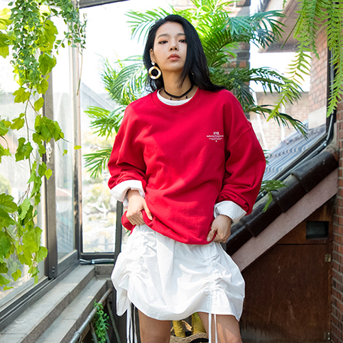 19SS UNISEX LOGO SWEATSHIRT - RED