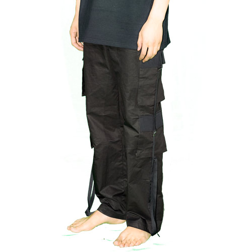 TWO WAY DOUBLE POCKET PANTS - BLACK