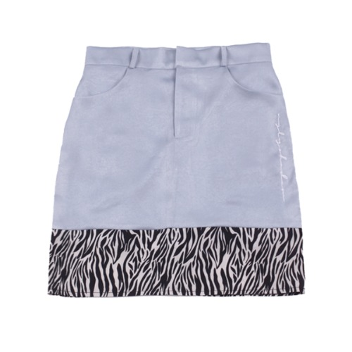 ZEBRA POINT SKIRT(BLUE)