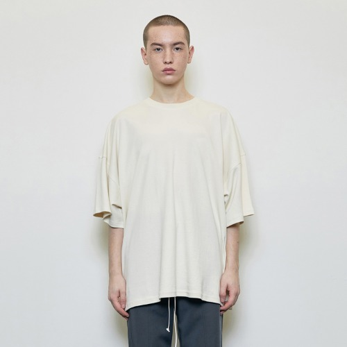 Oversized T-shirt Beige