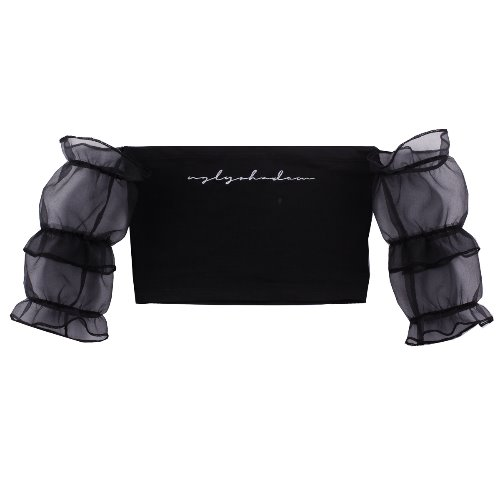UGLYSHADOW_SHIRRING CROP TOP(BLACK)