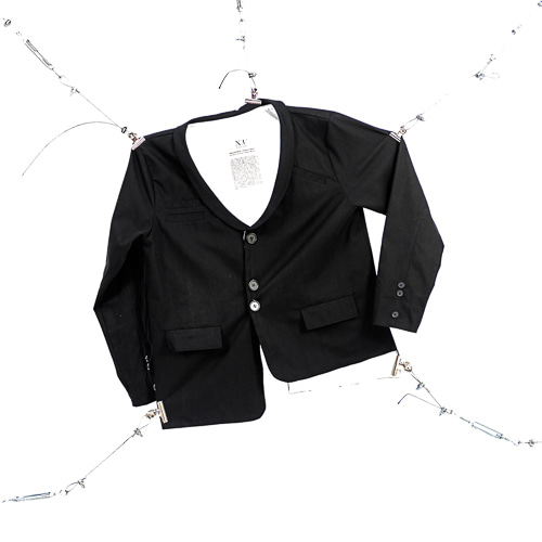 SHAWL COLLAR SETUP JACKET - BLACK
