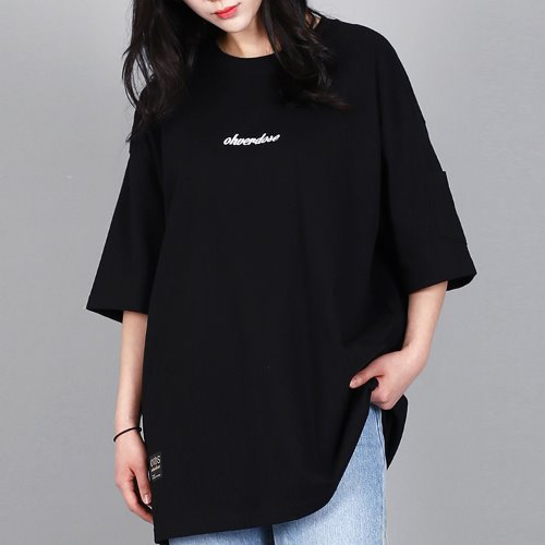 OVER-FIT LOGO POCKET-T BLACK