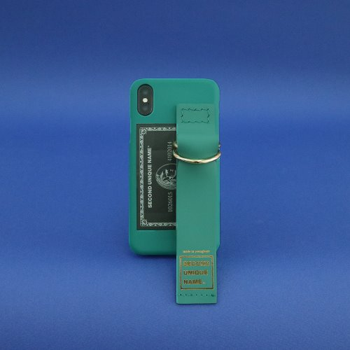 SUN CASE LEATHER CARD SEA GREEN