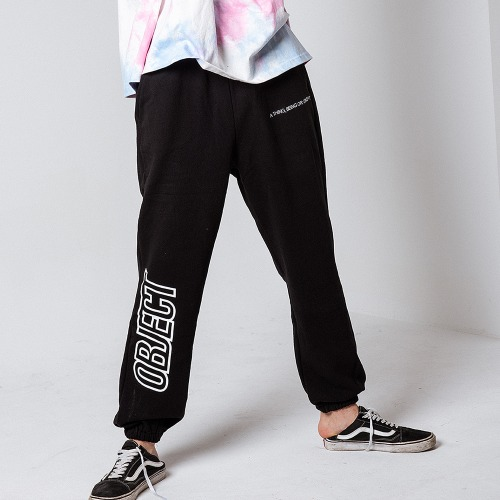 OBJECT LOGO SWEATPANTS (BLACK)