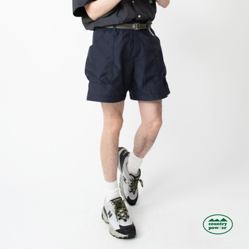 HIKE BANDING CHECK SHORTS (NAVY)