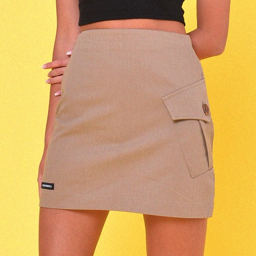 UNBALANCE CARGO SKIRT(2color)