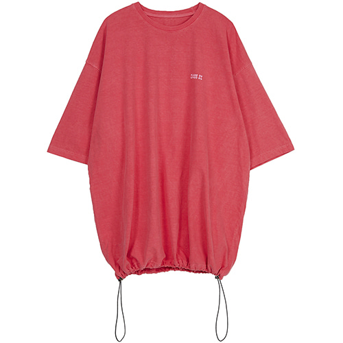 reversible pigment string T-shirt (FU-141_coral pink)